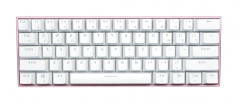 Royal Kludge RK61 Pink Case White Keycaps