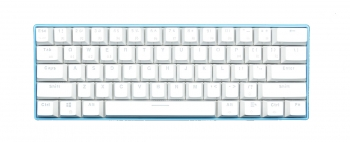 Royal Kludge RK61 Blue Case White Keycaps