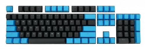 Tai-Hao 104 Key PBT Double Shot Backlit Keycap Set - Blue / Black